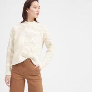 Everlane Cashmere/Wool Waffle Square Crew Sweater